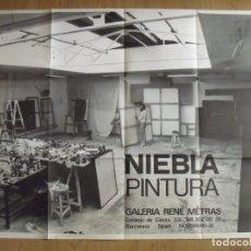 Varios objetos de Arte: JOSEP NIEBLA. CARTEL ABIERTO. PRESÈNCIES DEL NOSTRE TEMPS. 1981. RENÉ METRAS. BARCELONA. BUEN ESTADO. Lote 182512031