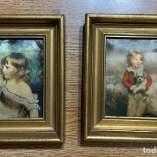 Varios objetos de Arte: DOS CUADROS EN TELA DE SEDA. Lote 182644852