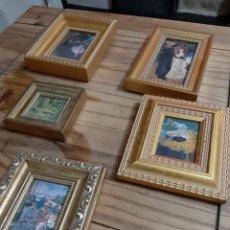 Varios objetos de Arte: LOTE MINI CUADROS. Lote 182736855