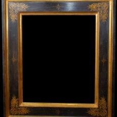Varios objetos de Arte: MARCO ARTESANO DORADO AL AGUA. Lote 182768590