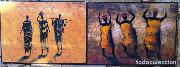 CUADROS CON MOTIVOS AFRICANOS (Arte - Varios Objetos de Arte)