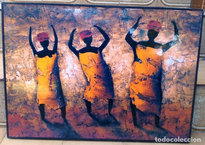 Varios objetos de Arte: CUADROS CON MOTIVOS AFRICANOS - Foto 2 - 182897181