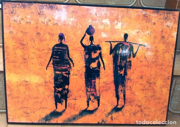 Varios objetos de Arte: CUADROS CON MOTIVOS AFRICANOS - Foto 3 - 182897181