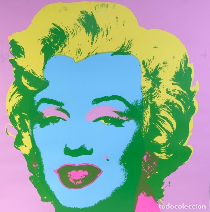 ANDY WARHOL POP ART-SUNDAY B. MORNING-MARILYN MONROE-IMPRESIÓN PUBLICADA POSTERIOR A SU MUERTE (Arte - Varios Objetos de Arte)