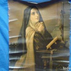 Varios objetos de Arte: ANTIGUA LAMINA DE SANTA TERESA DE JESÚS DEL AÑO 1930. Lote 183204928