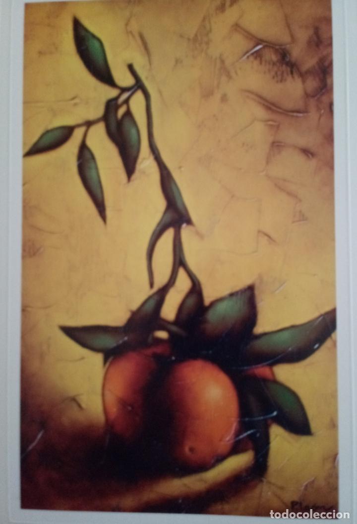 Varios objetos de Arte: PEDRO LEÓN - 4 REPRODUCCIONES ÓLEO SOBRE LIENZO - TORO BRAVO - DESNUDO - NARANJAS - MISTERIO - Foto 8 - 222216883