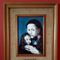 Varios objetos de Arte: ESMALTE AL FUEGO - MATERNIDAD DE PABLO PICASSO. Lote 183330741