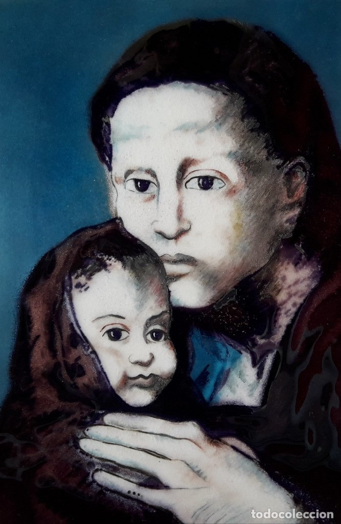 Varios objetos de Arte: ESMALTE AL FUEGO - MATERNIDAD DE PABLO PICASSO - Foto 4 - 183330741