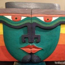 Varios objetos de Arte: SIGRIS DISSENY - CUADRO MADERA TALLADA Y PINTADA A MANO.. Lote 183349992