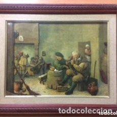 Varios objetos de Arte: CUADRO TRIDIMENSIONAL EN RELIEVE 3D ESMALTADO CON CAPAS SOBREPUESTAS. ESCENA EN TABERNA.. Lote 183781907