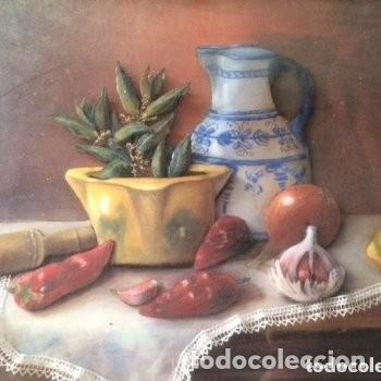 Varios objetos de Arte: Cuadro tridimensional en relieve 3D esmaltado, capas sobrepuestas. Mesa decorativa. Firmado Andreu. - Foto 4 - 183784871