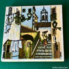 Varios objetos de Arte: CUADRITO PINTADO SOBRE AZULEJO. Lote 183809073