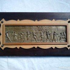 Varios objetos de Arte: 'ATENES'. OBRA ORIGINAL DE FRANCESC GASSÓ. GRAVAT EN METALL AMB SUPORT DE FUSTA - ART CATALÀ. Lote 183816861