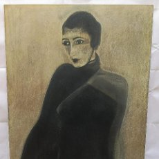 Varios objetos de Arte: MARISA. MUJER ART DECO. TECNICA MIXTA SOBRE CHAPON.. Lote 184438107