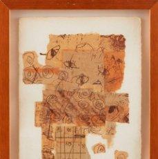 Varios objetos de Arte: LOURDES FISA - CORBERA DE LLOBREGAT 1964 - COLLAGES SOBRE PAPEL - TÍTULO: COMPOSICIÓN. Lote 184614497