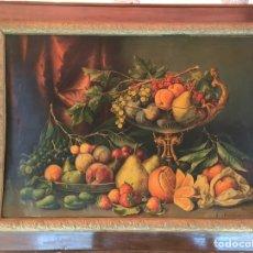 Varios objetos de Arte: NATURALEZA MUERTA FRUTAS. Lote 184637391