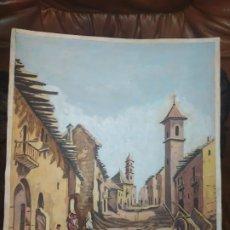 Varios objetos de Arte: PRECIOSO DIBUJO FIRMADO R BRAU 75 CALLE PUEBLO. Lote 185937467