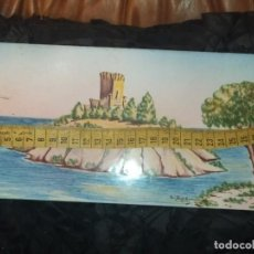 Varios objetos de Arte: ANTIGUO AZULEJO ÓLEO PINTADO FIRMADO CREO A. BARTOMEU CASTILLO TORRE ISLA PRECIOSO UNICO. Lote 186147988