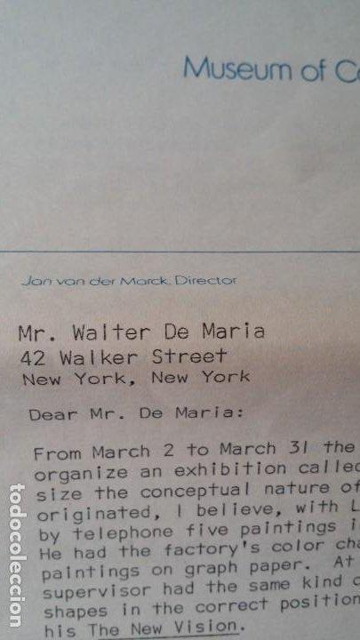 Varios objetos de Arte: WALTER DE MARIA - Marcel Duchamp, Chicago Project, SMS#1, 1968 - Foto 6 - 186213760