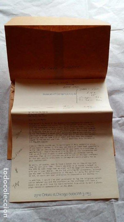 Varios objetos de Arte: WALTER DE MARIA - Marcel Duchamp, Chicago Project, SMS#1, 1968 - Foto 3 - 186213760