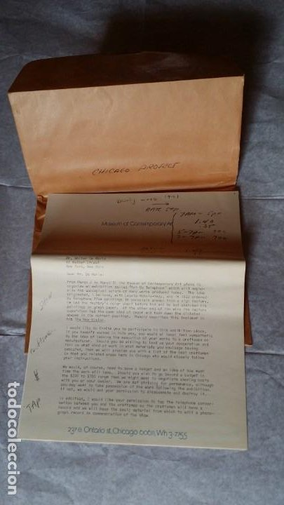 Varios objetos de Arte: WALTER DE MARIA - Marcel Duchamp, Chicago Project, SMS#1, 1968 - Foto 15 - 186213760