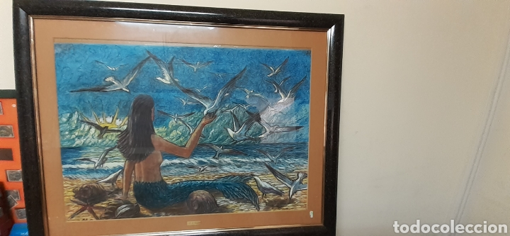 Varios objetos de Arte: Cuadro pastel de M.G SARLAT - Foto 2 - 186378998