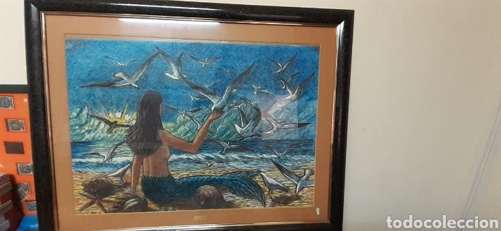 Varios objetos de Arte: Cuadro pastel de M.G SARLAT - Foto 3 - 186378998