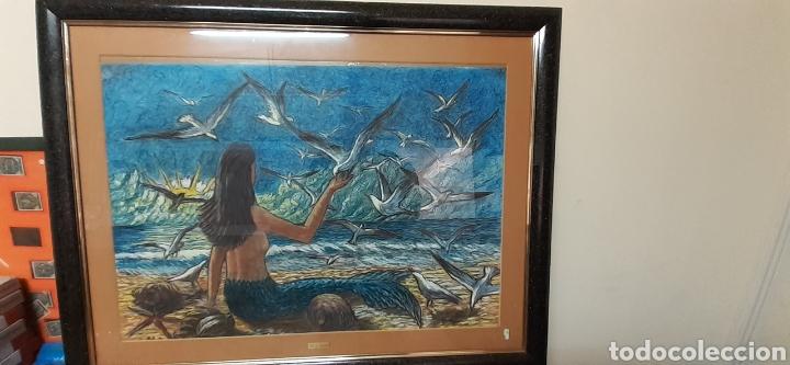 Varios objetos de Arte: Cuadro pastel de M.G SARLAT - Foto 4 - 186378998