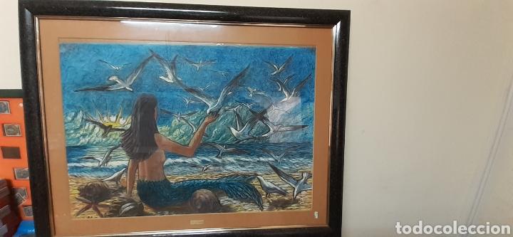 CUADRO PASTEL DE M.G SARLAT (Arte - Varios Objetos de Arte)