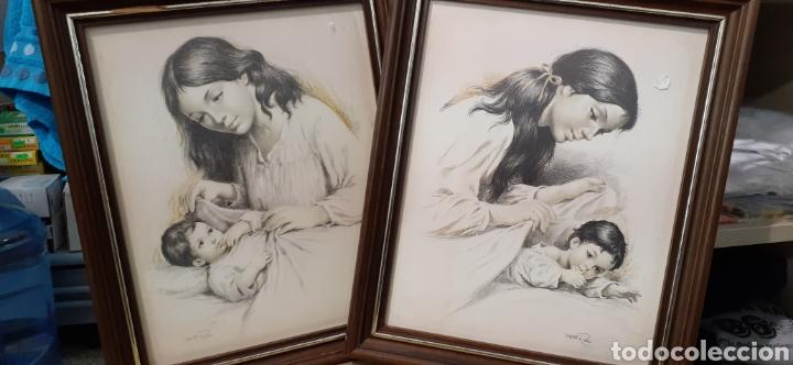 Varios objetos de Arte: Cuadros la maternidad de Vicente roso - Foto 2 - 186386415
