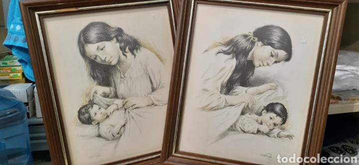 CUADROS LA MATERNIDAD DE VICENTE ROSO (Arte - Varios Objetos de Arte)