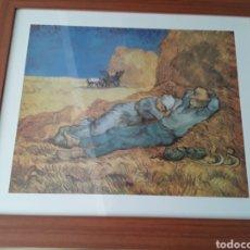 Varios objetos de Arte: LAMINA ENMARCADA EL DESCANSO VANG GOGH. Lote 187184976