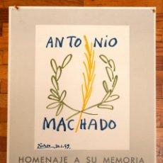 Varios objetos de Arte: ANTONIO MACHADO - HOMENAJE - LITOGRÁFICO - IMAGEN DE PICASSO - ED. LIMITADA. Lote 188402383