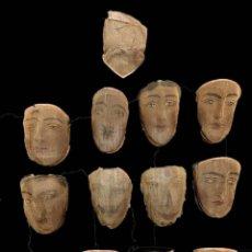 Varios objetos de Arte: IMPRESIONANTE LOTE DE 13 MÁSCARAS DE TEATRO DEL TEATRO VENECIANO. SIGLO XVIII. RARÍSIMO.17X20X10. Lote 188561971