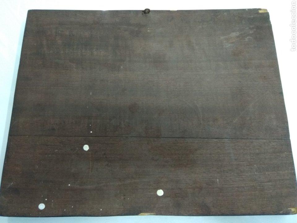 Varios objetos de Arte: ANTIGUO CUADRO TABLA RELIEVE TALLADA POLICROMADA ESCENA TIPOLOGÍA VASCA SUKALDEAN PAIS VASCO BASQUE - Foto 6 - 188740941