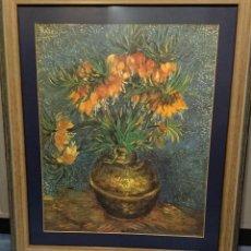 Varios objetos de Arte: LÁMINA CUADRO LOS GIRASOLES DE VAN GOGH, ENMARCADO. Lote 189095537