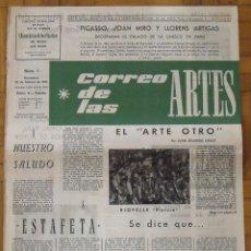 Varios objetos de Arte: CORREO DE LAS ARTES 1. 1957. PICASSO, MIRÓ Y LLORENS ARTIGAS. BARCELONA. 45X32 CM. 4 PÁGINAS.. Lote 189108533