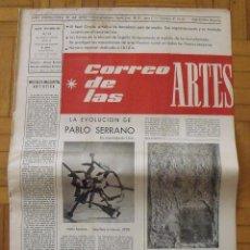 Varios objetos de Arte: CORREO DE LAS ARTES 19. 1959. LA EVOLUCIÓN DE PABLO SERRANO. BARCELONA. 45X32 CM. 8 PÁGINAS.. Lote 189110100
