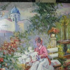 Varios objetos de Arte: PINTURA ANTIGUA OLEO ALICANTE FIRMADO SIMARRO PINTOR FAMA ALICANTINA IGLESIA VILLAFRANQUEZA. Lote 189748698
