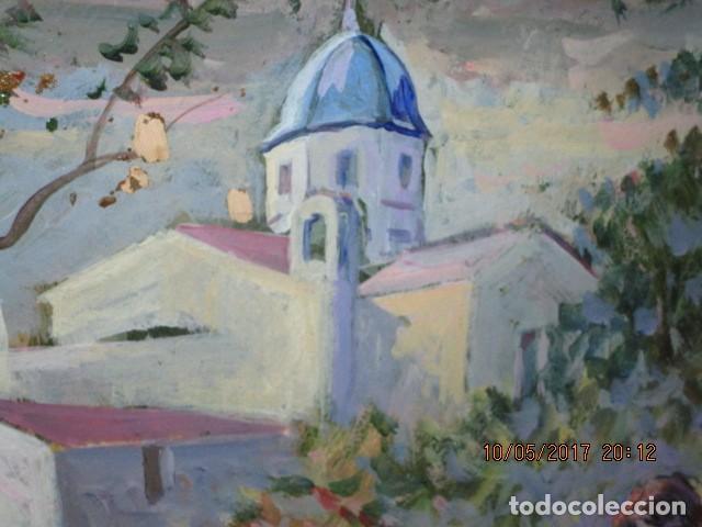 Varios objetos de Arte: PINTURA ANTIGUA OLEO ALICANTE FIRMADO SIMARRO PINTOR FAMA ALICANTINA iglesia VILLAFRANQUEZA - Foto 6 - 189748698