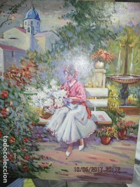 Varios objetos de Arte: PINTURA ANTIGUA OLEO ALICANTE FIRMADO SIMARRO PINTOR FAMA ALICANTINA iglesia VILLAFRANQUEZA - Foto 9 - 189748698