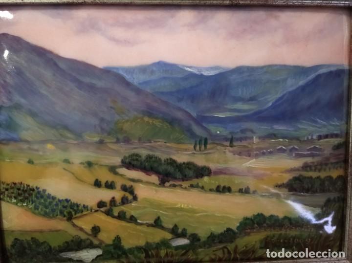 Varios objetos de Arte: PAISAJE 35*28 - ORO DE LEY LIQUIDO - ESMALTE AL FUEGO - SOR PAULA MARTIN - Foto 2 - 189896823