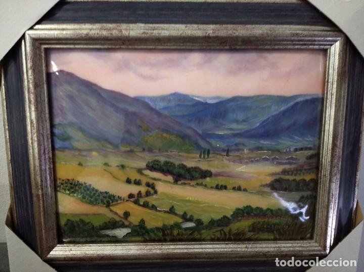 Varios objetos de Arte: PAISAJE 35*28 - ORO DE LEY LIQUIDO - ESMALTE AL FUEGO - SOR PAULA MARTIN - Foto 3 - 189896823