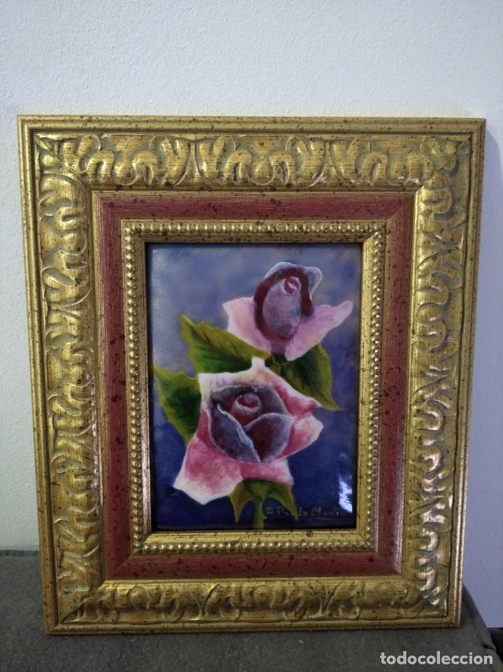 Varios objetos de Arte: FLORES 27*32 - ORO DE LEY LIQUIDO - ESMALTE AL FUEGO - SOR PAULA MARTIN - Foto 3 - 189897511