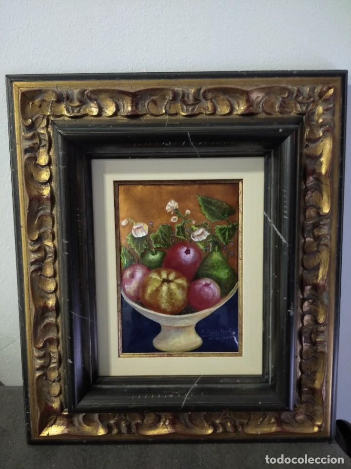 Varios objetos de Arte: FRUTAS Y FLORES 38*44 - ORO DE LEY LIQUIDO - ESMALTE AL FUEGO - SOR PAULA MARTIN - Foto 3 - 189899718