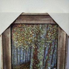 Varios objetos de Arte: ARBOL OTOÑAL 31*35 - ORO DE LEY LIQUIDO - ESMALTE AL FUEGO - SOR PAULA MARTIN . Lote 189899865