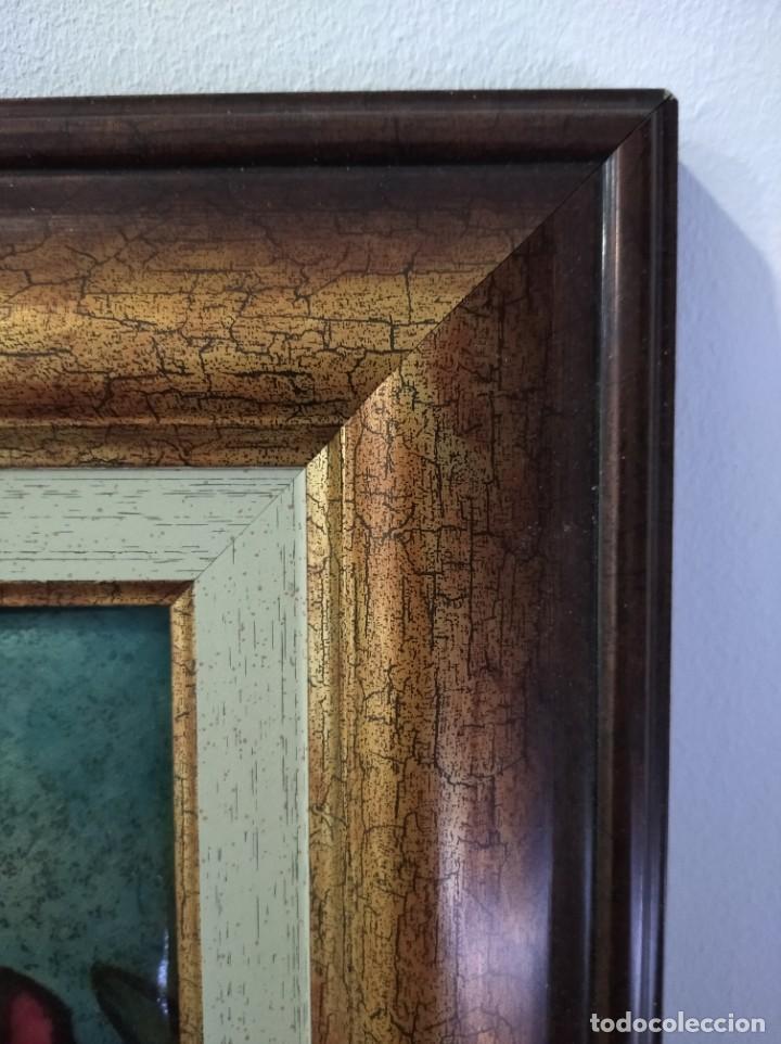 Varios objetos de Arte: FLORES 32*38 - ORO DE LEY LIQUIDO - ESMALTE AL FUEGO - SOR PAULA MARTIN - Foto 2 - 189900061
