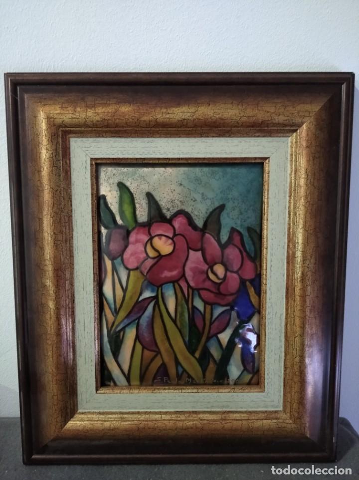 Varios objetos de Arte: FLORES 32*38 - ORO DE LEY LIQUIDO - ESMALTE AL FUEGO - SOR PAULA MARTIN - Foto 5 - 189900061