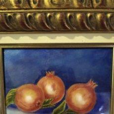 Varios objetos de Arte: GRANADAS 40*36 - ORO DE LEY LIQUIDO - ESMALTE AL FUEGO - SOR PAULA MARTIN . Lote 189901298