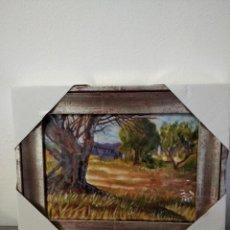 Varios objetos de Arte: PAISAJE 34*26 - ORO DE LEY LIQUIDO - ESMALTE AL FUEGO - SOR PAULA MARTIN . Lote 189901678
